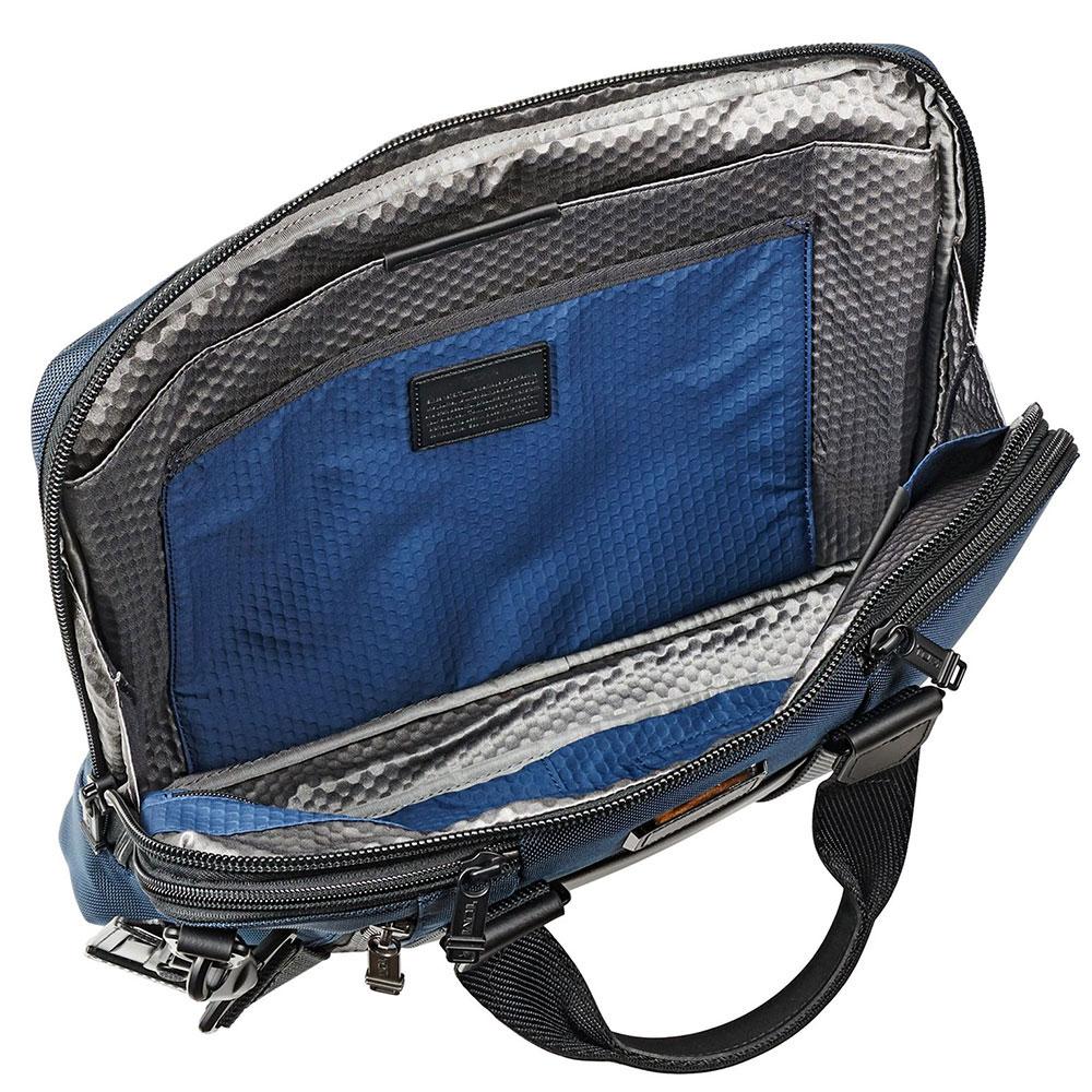 Синяя сумка-портфель Tumi Alpha Bravo Aviano