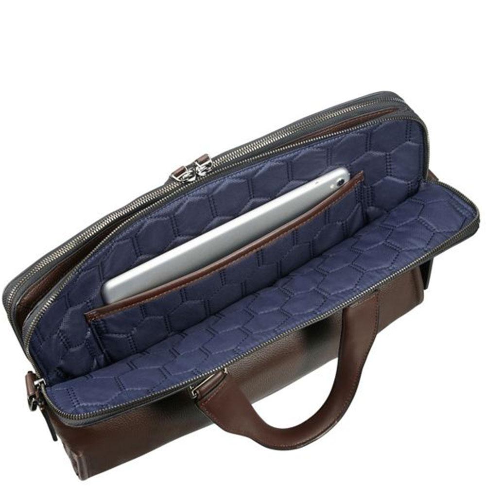 Сумка-портфель Tumi Harrison Seneca коричневого цвета
