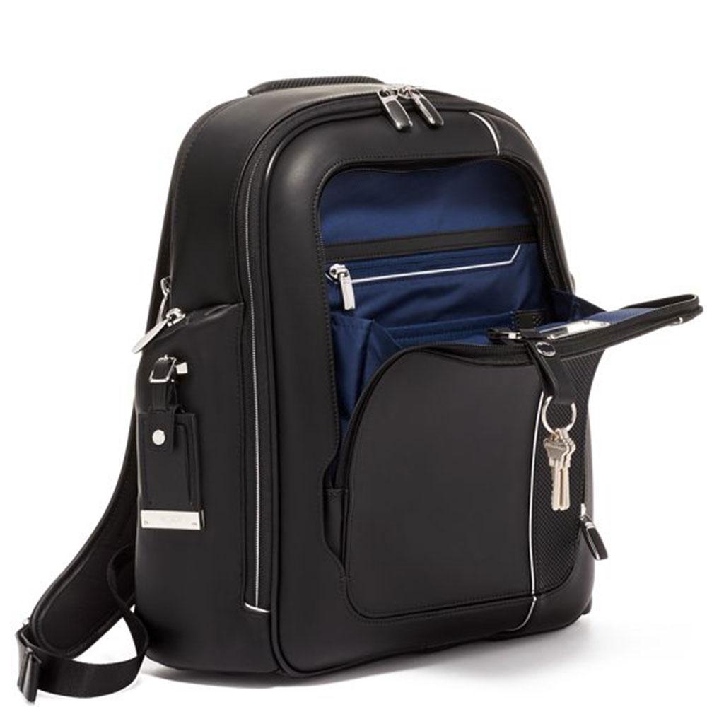 Кожаный рюкзак Tumi Arrive Larson черного цвета