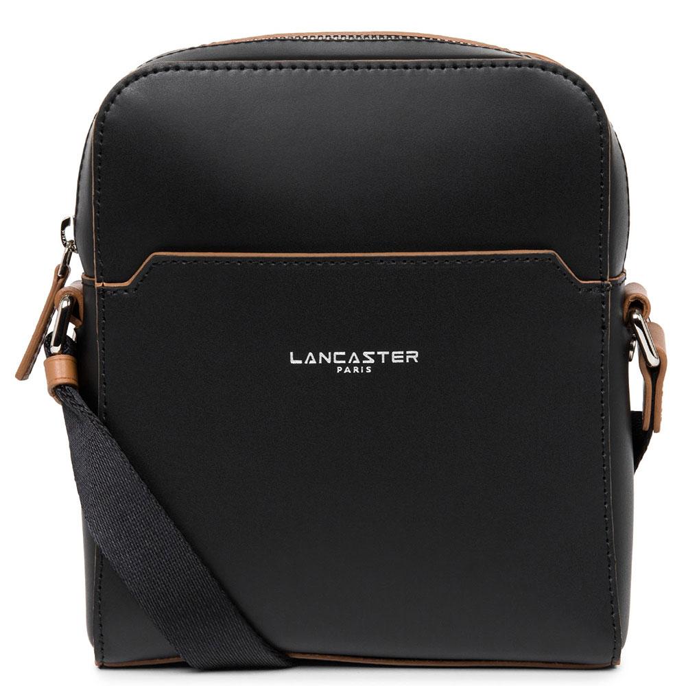Мужская сумка Lancaster Smooth Homme черного цвета