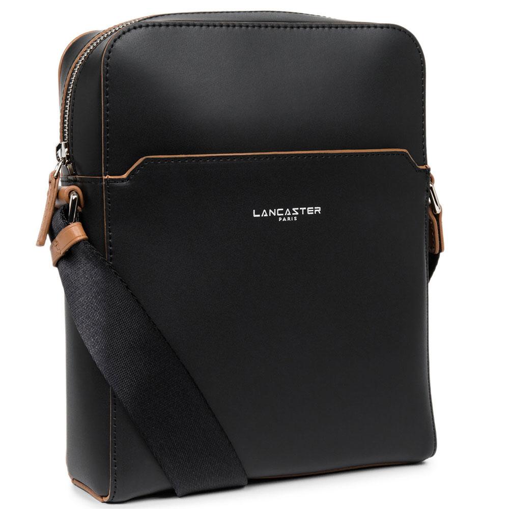 Черная сумка Lancaster Smooth Homme из гладкой кожи