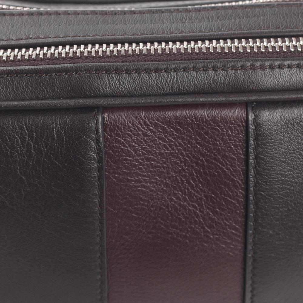 Коричневая сумка Davidoff из матовой кожи