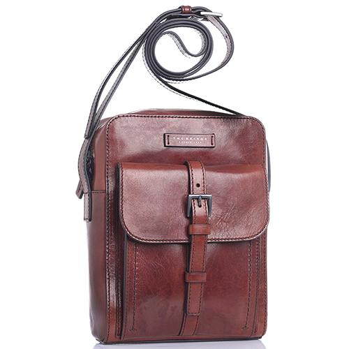 Мужская сумка The Bridge Byron из гладкой кожи коричневого цвета, фото