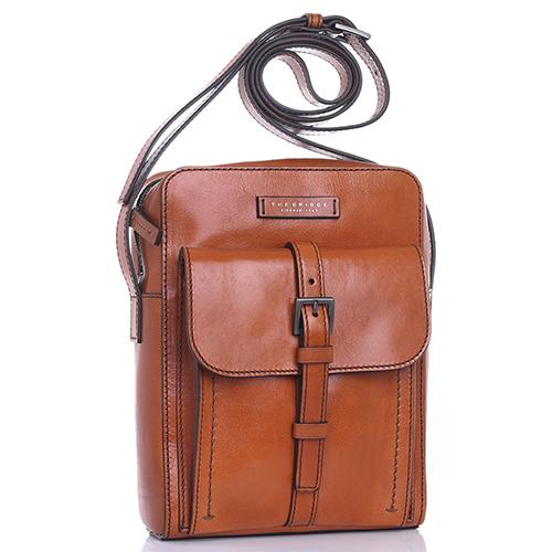 Мужская сумка The Bridge Byron из гладкой кожи коньячного цвета, фото