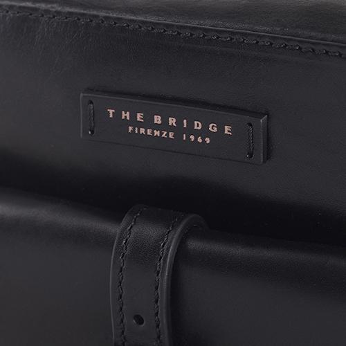 Мужская сумка The Bridge Byron из гладкой кожи черного цвета, фото