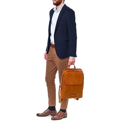 Кожаный рюкзак The Bridge Williamsburg с отделением для ноутбука, фото