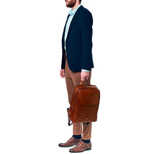 Рюкзак для ноутбука The Bridge Williamsburg коричневого цвета, фото