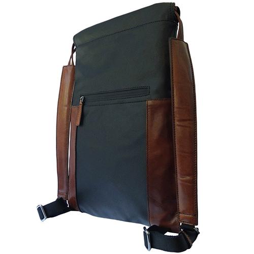 Необычная сумка-рюкзак The Bridge Hydro из черной и коричневой кожи, фото
