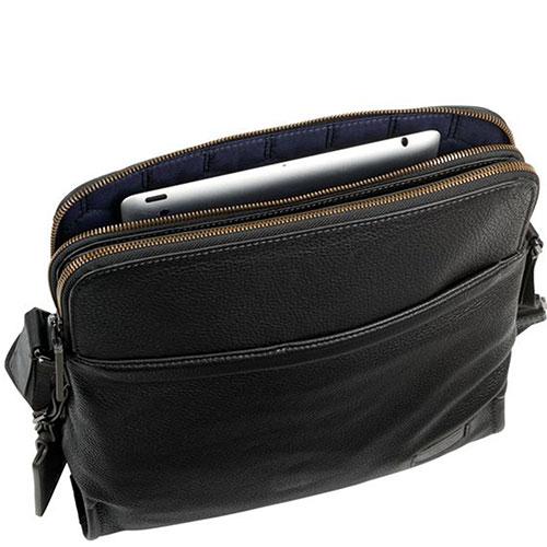 Черная сумка Tumi Harrison Stratton Crossbody на молнии, фото