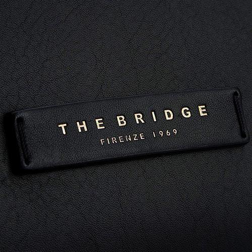 Сумка для ноутбука The Bridge Fitzroy из черной гладкой кожи, фото