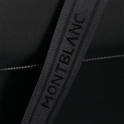 Вместительный кожаный портфель Montblanc Meisterstuck за застежке, фото