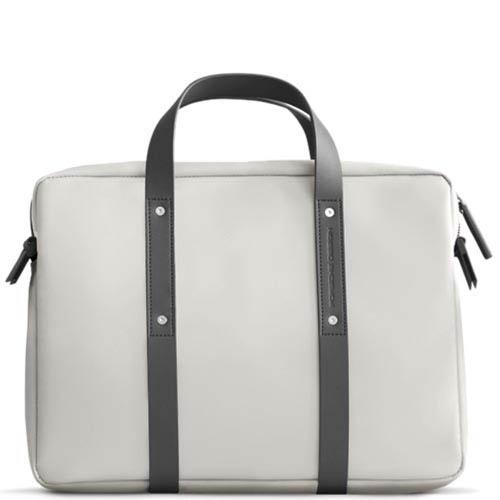 Белая тонкая сумка Porsche Design Cargon TL для ноутбука, фото