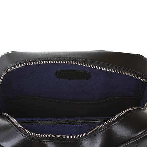 Мужская сумка S.T.Dupont Elysee из полированной кожи черного цвета, фото
