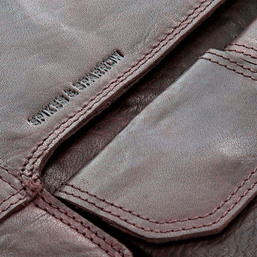 Коричневая сумка Spikes&Sparrow прямоугольной формы, фото