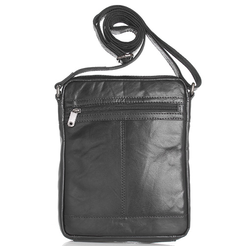 Мужская сумка Spikes&Sparrow из черной кожи, фото