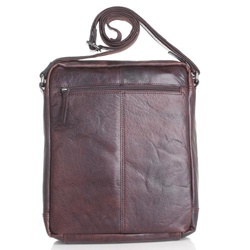 Мужская коричневая сумка прямоугольной формы Spikes&Sparrow, фото