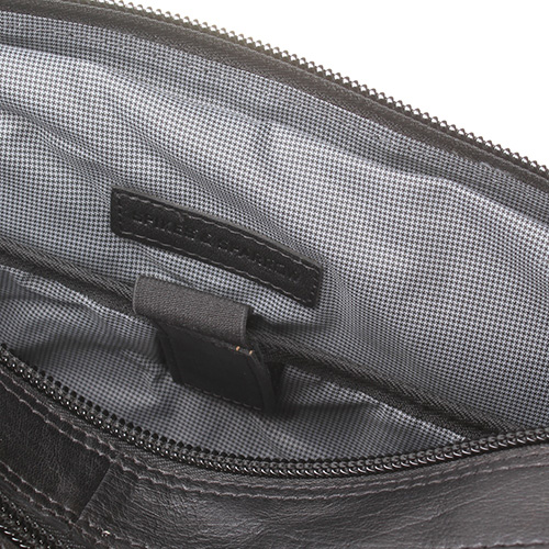 Сумка для ноутбука Spikes&Sparrow из гладкой кожи черного цвета, фото