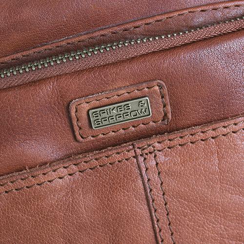 Коричневая сумка из гладкой кожи Spikes&Sparrow, фото