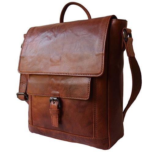 Коричневая сумка Spikes&Sparrow на плечевом ремне, фото