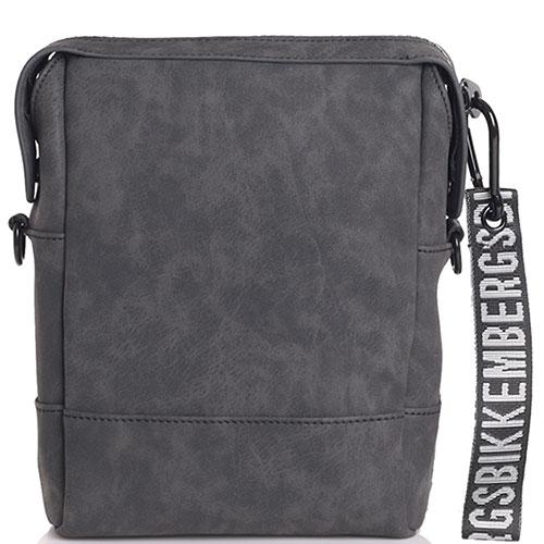 Мужская сумка Bikkembergs темно-серого цвета, фото