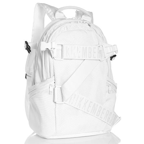 Белый рюкзак Bikkembergs с карманом из плотной сетки, фото