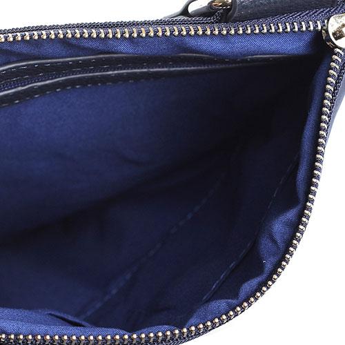 Мужская сумка синего цвета Baldinini из зернистой кожи, фото