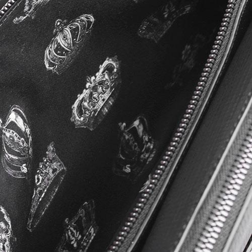 Сумка прямоугольной формы Dolce&Gabbana из зернистой кожи черного цвета, фото