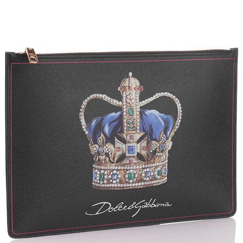 Клатч текстильный Dolce&Gabbana на молнии, фото