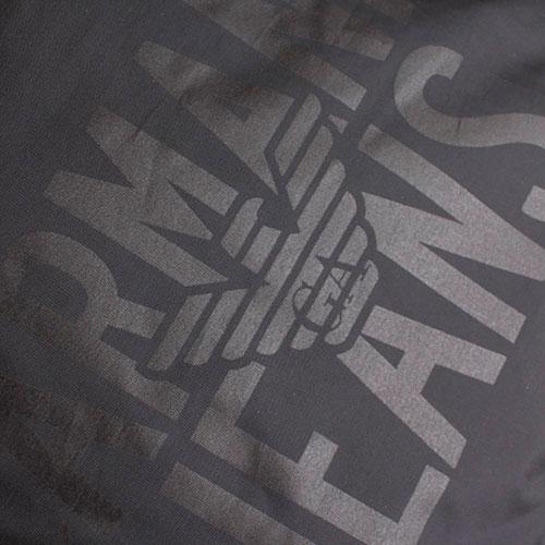 Текстильный спортивный рюкзак Armani Jeans черного цвета, фото