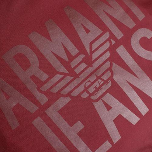 7a30d63631e6 ☆ Текстильный спортивный рюкзак Armani Jeans бордового цвета 932063 ...