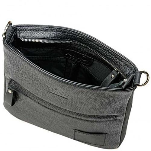 Прямоугольная сумка Amo Accessori Paolo черного цвета, фото