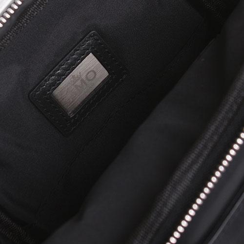 Сумка-органайзер Amo Accessori из гладкой черной кожи, фото