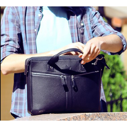 Деловая сумка Amo Accessori Marco черного цвета, фото
