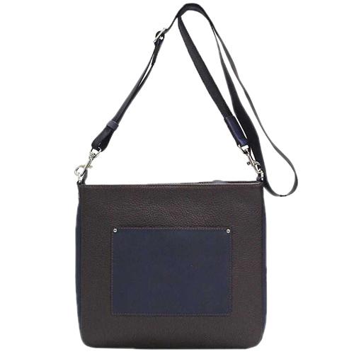 Коричневая сумка Amo Accessori с синими вставками, фото