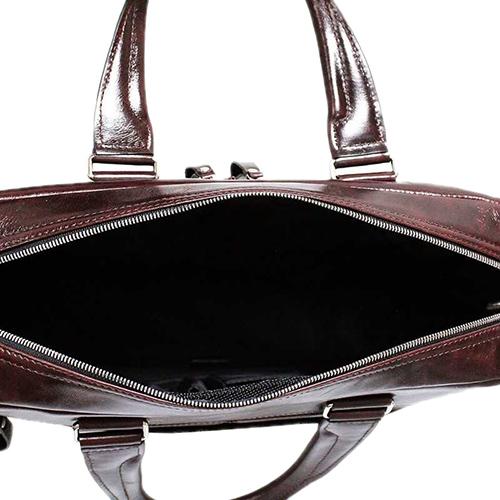 Коричневая сумка Amo Accessori Valentino из гладкой кожи, фото