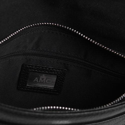 Клатч Amo Accessori Verona из зернистой кожи черного цвета, фото