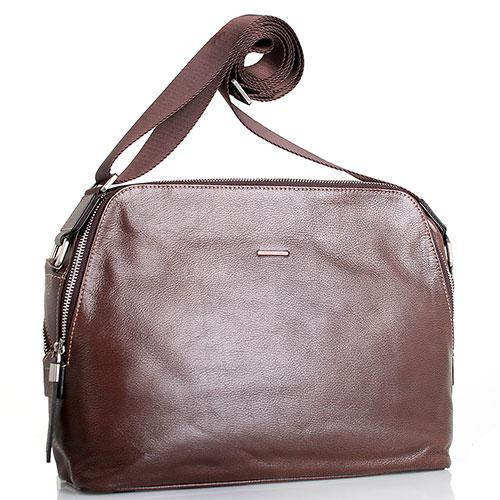 Кожаная сумка Amo Accessori Verona коричневого цвета, фото