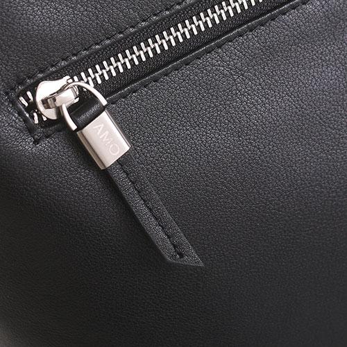 Сумка для ноутбука Amo Accessori из зернистой кожи черного цвета, фото