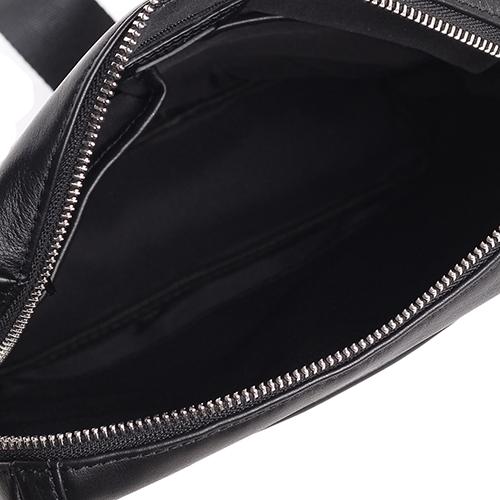 Черная мужская сумка Amo Accessori из гладкой кожи, фото