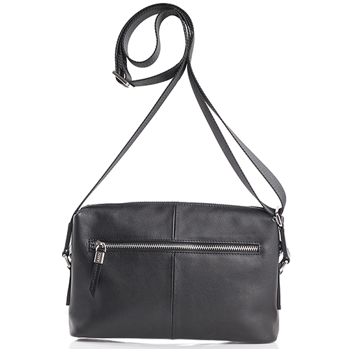 Мужская сумка Amo Accessori из гладкой кожи черного цвета, фото