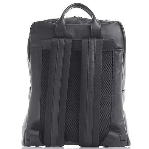 Рюкзак Amo Accessori Verona из зернистой кожи черного цвета, фото