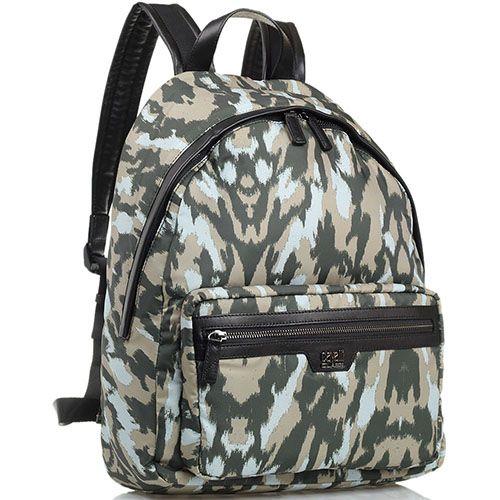 Рюкзак Cavalli Class Ace из текстиля расцветки хаки, фото