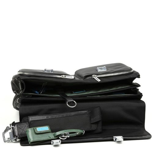 Большой портфель Piquadro Link темно-синий с отделением для ноутбука, фото