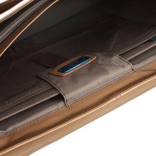 Портфель Piquadro Vibe с одним замком с отделением для ноутбука бежевый, фото