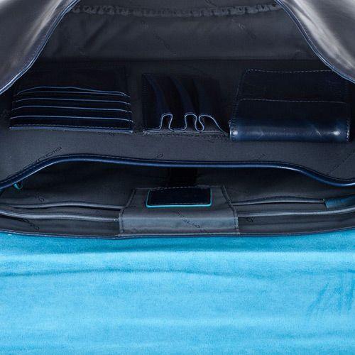 Портфель на 2 отделения Piquadro Blue square темно-синий, фото