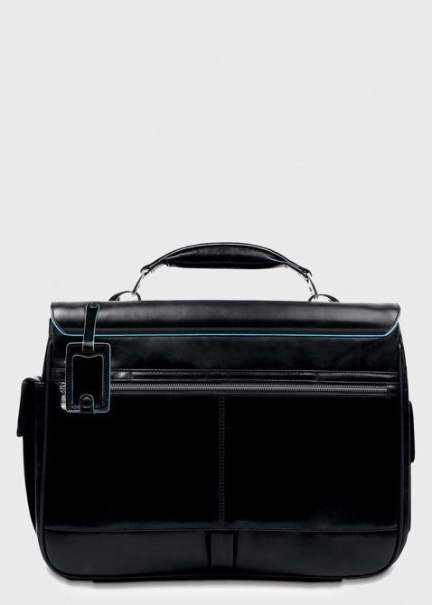 Портфель с 2 фронтальными карманами Piquadro черный Blue square, фото
