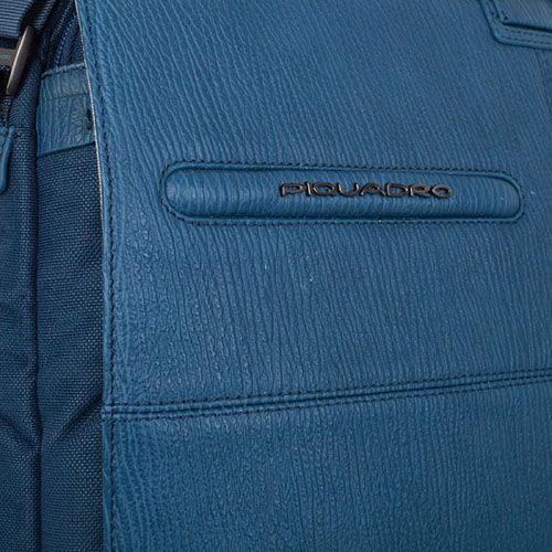 Сумка Piquadro Signo голубого цвета с отделением для ноутбука и съемным чехлом, фото