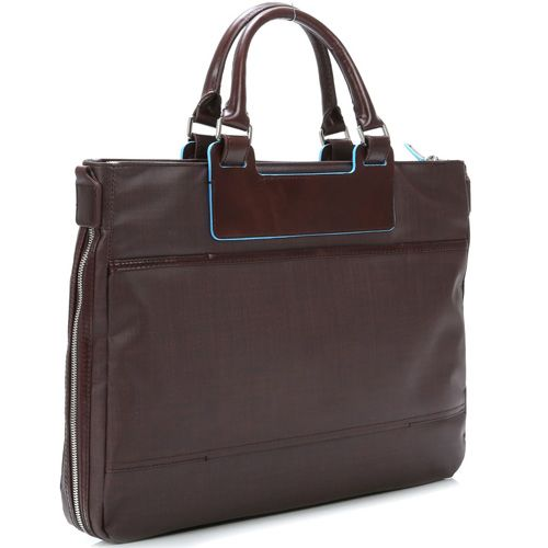 01eabaf901b26 Сумка Piquadro Aki коричневая из нейлона и кожи с чехлом для ноутбука iPad  или iPad Air