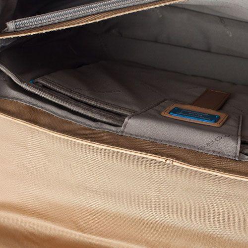 Портфель Piquadro Vibe с отделением для ноутбука бежевый, фото