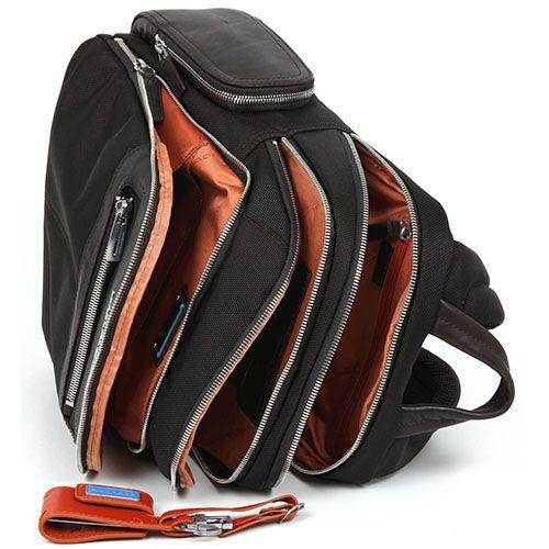 Рюкзак Piquadro Link коричневого цвета с отделением для ноутбука 12', фото